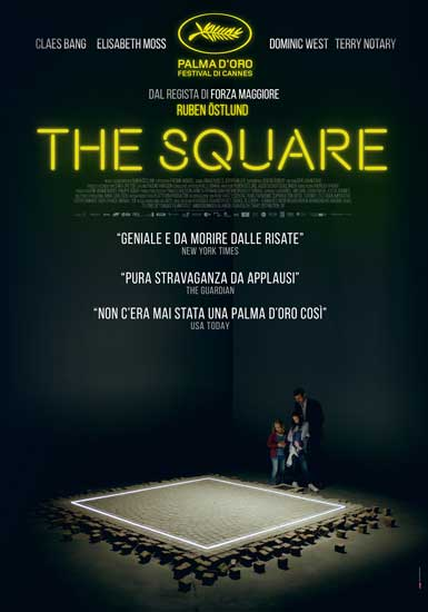 il poster italiano del film the Square