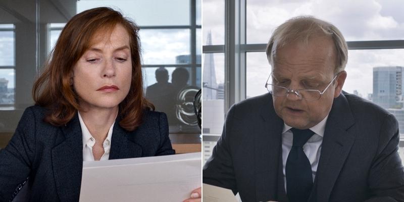 Isabelle Huppert e Toby Jones in Happy End di Michael Haneke