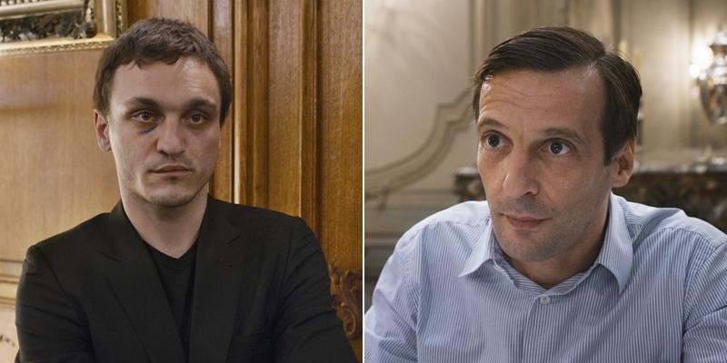 Franz Ragowski e Mathieu Kassovitz in Happy End di Michael Haneke