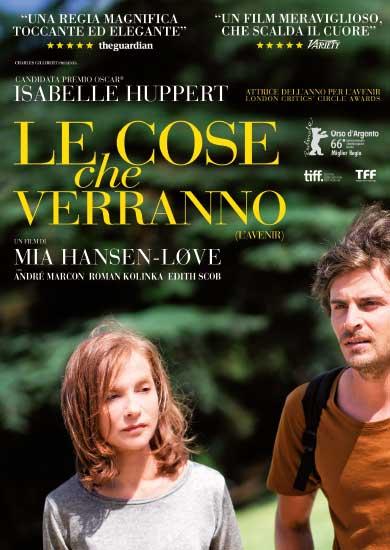il poster italiano del film Le cose che verrano