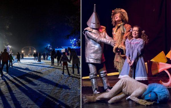 Cose da fare a Natale a Milano con i bambini: La pista di ghiaccio al Villaggio delle Meraviglie e Il Mago di Oz a teatro