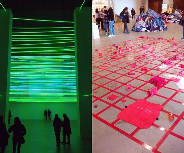 Al Pirelli Hangar Bicocca installazioni luminose di Fontana e oggetti da toccare, spostare, lasciare: sono le più divertenti mostre di arte contemporanea a Milano.