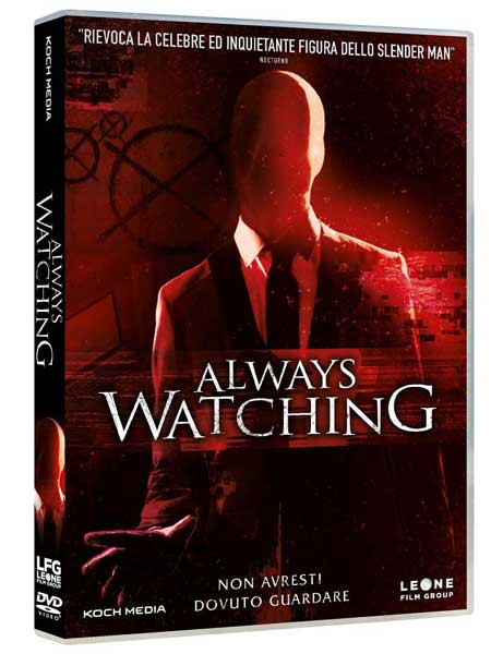 La cover del DVD del film horror Always Watching