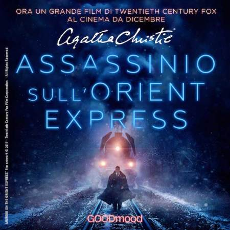 La cover dell'audiolibro Assassinio sull'Orient Express di GOODmood