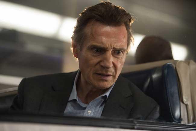 Liam Neeson in una scena del film L'uomo sul treno - Photo: courtesy of Eagle Pictures