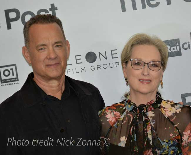 Tom Hanks e Meryl Streep alla presentazione milanese del film The Post - Photo credit: Nick Zonna