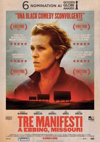 La locandina italiana del film Tre Manifesti a Ebbing Missouri
