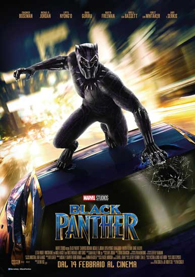 il poster italiano del film Marvel Black Panther