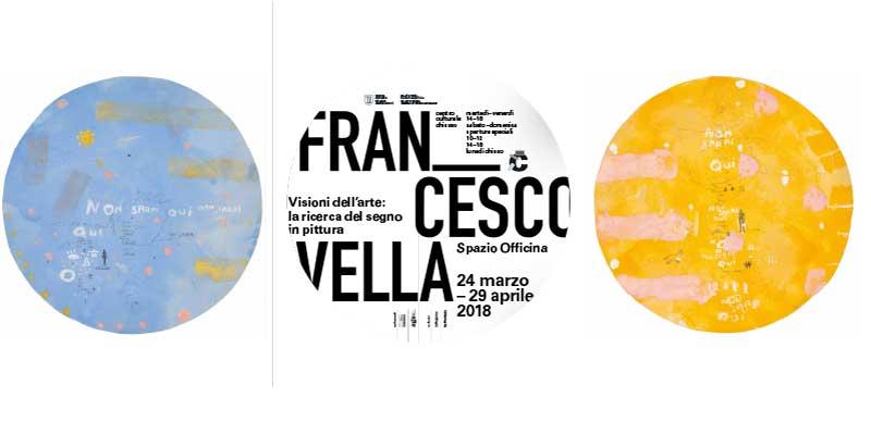 il manifesto della mostra dedicata a Francesco Vella allo Spazio Officina di Chiasso