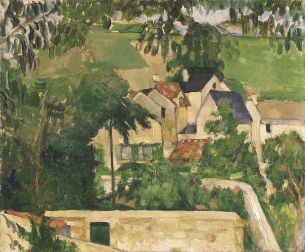 Impressionismo e Avanguardie: Paul Cezanne, Le Quartier du Four à Auvers-sur-Oise, ca. 1873