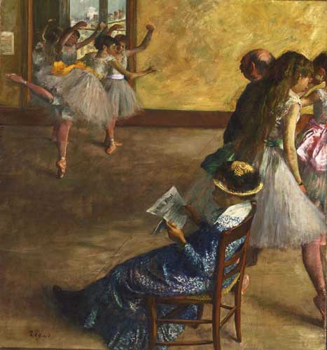impressionismo e avanguardie: Edgar Degas La classe di danza, ca. 1880