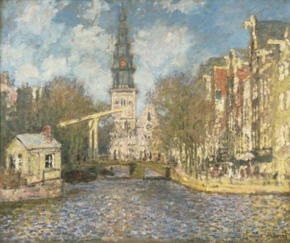 Impressionismo e Avanguardie: Claude Monet La Zuiderkerk di Amsterdam: vista sul Groenburgwal