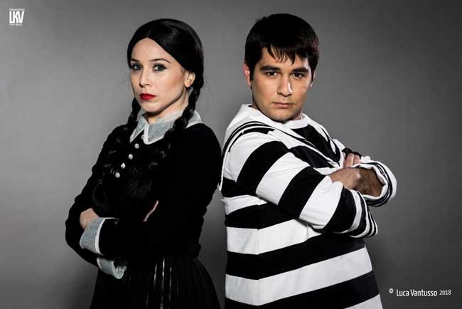 La Famiglia Addams - Lucia Blanco (Mercoledì) e Alfredo Simeone (Pugzley) - Foto 2018 Luca Vantusso
