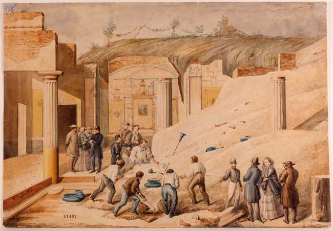 Ercolano e Pompei: Luigi Capaldo, Scavo archeologico a Pompei