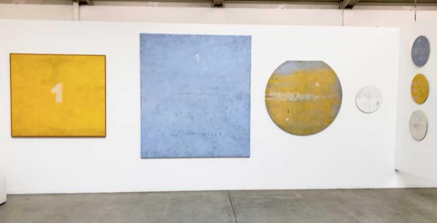 alcune opere di Francesco Vella in mostra allo Spazio Officina - Foto: MaSeDomani