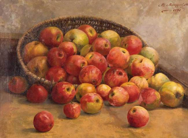 Marie-Louise Audemars Manzoni, Natura morta con mele, 1898