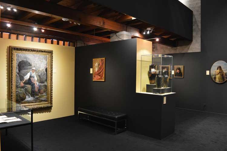 una delle sale della Pinacoteca dedicate alla mostra Arte e Diletto