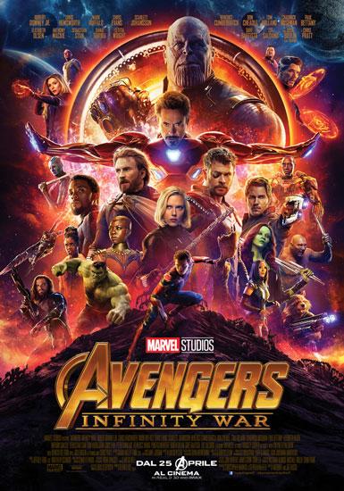 il poster italiano del film Marvel Avengers: Infinity War