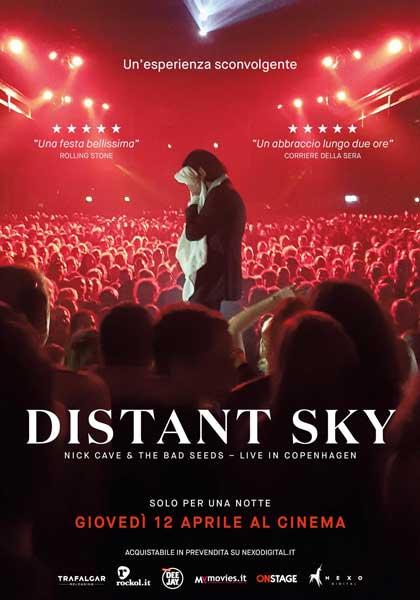 la locandina italiana del film-evento Distant Sky