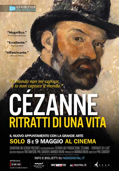 la locandina italiana del docufilm Cézanne Ritratti di una Vita