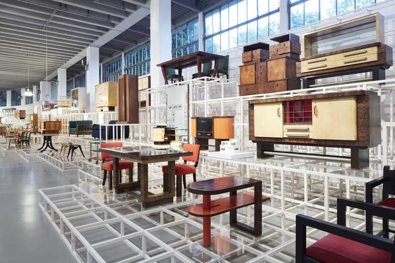 Una sezione della mostra Osvaldo Borsani - Photo: courtesy of La Triennale