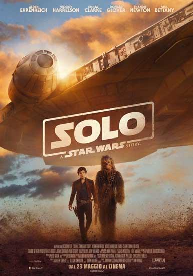 la locandina italiana del film Solo: A Star Wars Story