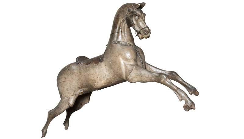 cavallo a dondolo XVIII secolo, collezione Giannelli