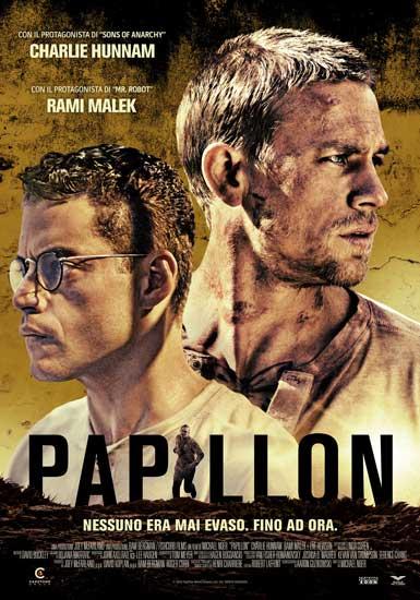 la locandina italiana del film Papillon