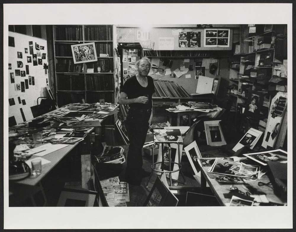 W. Eugene Smith in his workroom - Photo by Arnold Crane