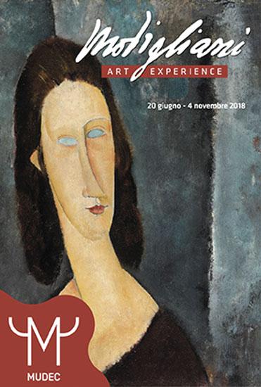 la locandina della Modigliani Art Experience