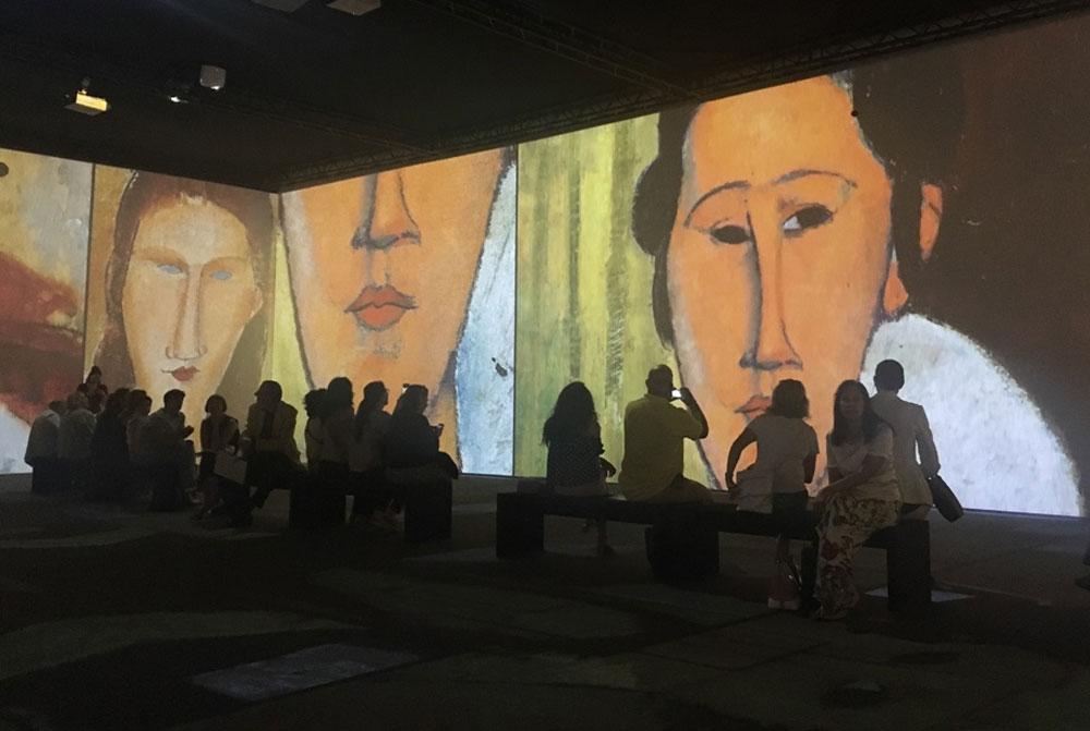 un momento della Modigliani Art Experience al MUDEC - Photo credit MaSeDomani