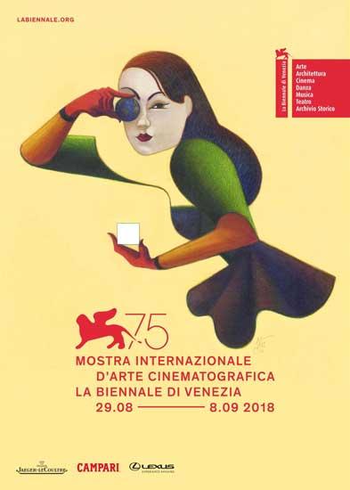Il poster ufficiale di Venezia 75 di Lorenzo Mattotti