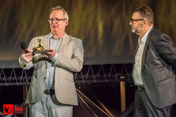 Ted Hope in Piazza Grande a Locarno - Photo credit Tosi Photography