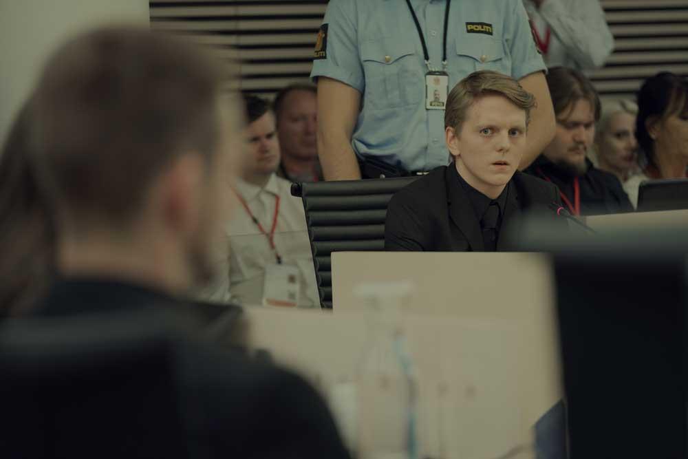 Jonas Strand Gravli in una scena del film 22 July