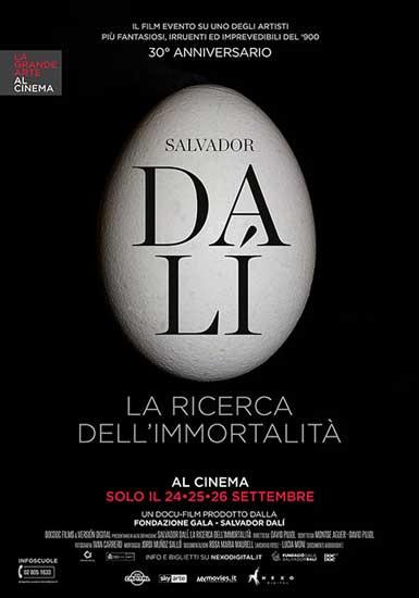 La locandina del film Salvador Dalí. La ricerca dell'immortalità