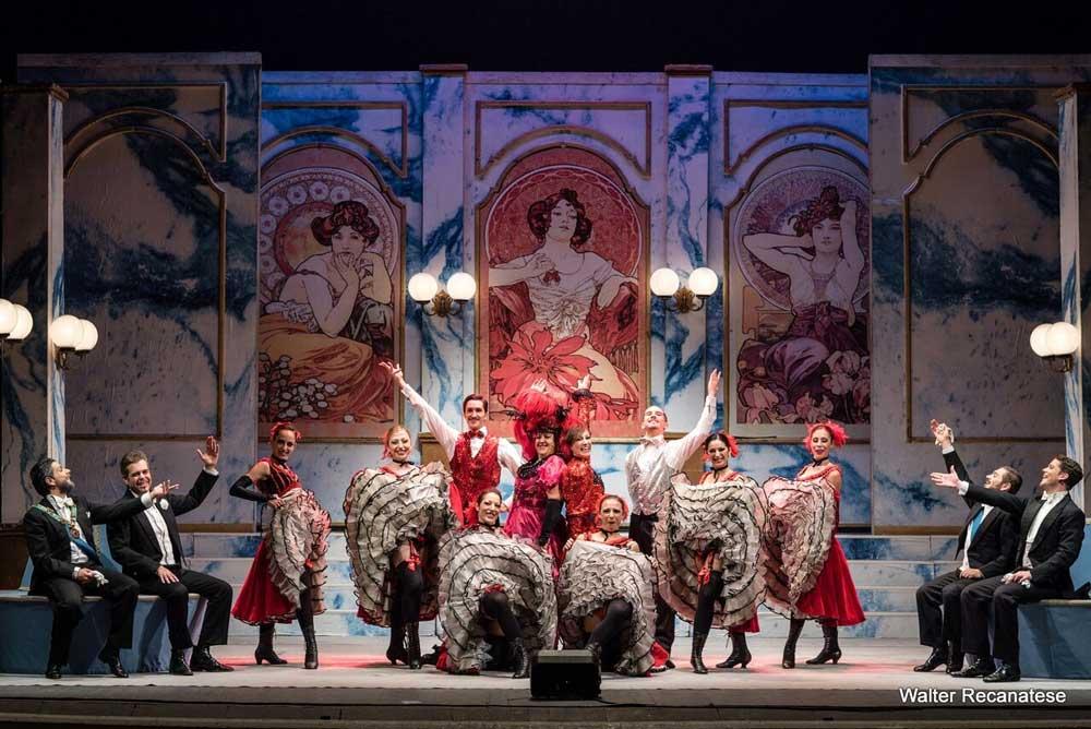 La Vedova Allegra nella stagione 2018/19 del Teatro Manzoni di Milano - Photo: courtesy of Teatro Manzoni