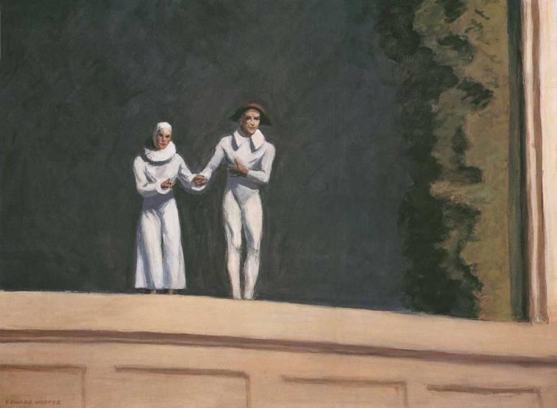 Edward Hopper, Two Comedians, 1966, collezione privata