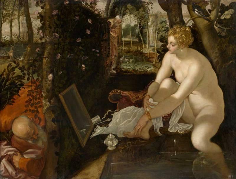 Tintoretto a Palazzo Ducale - Susanna e I Vecchioni 1555 ca