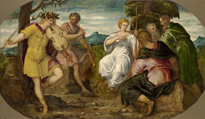 Jacopo Tintoretto, La contesa tra Apollo e Marsia, 1544 – prima del febbraio 1545 - Hartford, Wadsworth Atheneum Museum of Art, CT. The Ella Gallup Sumner and Mary Catlin Sumner Collection Fund