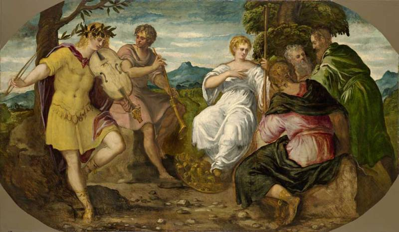 Jacopo Tintoretto, La contesa tra Apollo e Marsia, 1544 – prima del febbraio 1545 - Hartford, Wadsworth Atheneum Museum of Art, CT. The Ella Gallup Sumner and Mary Catlin Sumner Collection Fund