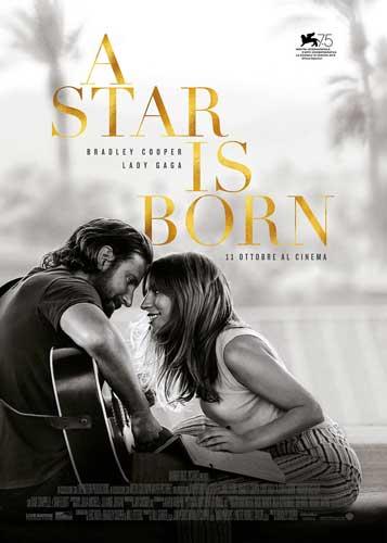 la locandina italiana del film A star is born