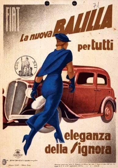 Marcello Dudovich, La nuova Balilla per tutti, 1934 Manifesto, cromolitografia, 195 x 139,3 cm Courtesy Galleria L'Image, Alassio