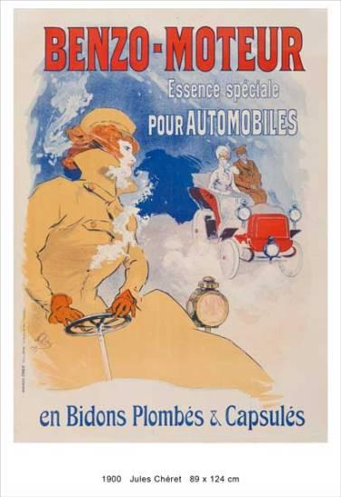 auto che passione: Jules Chéret, Benzo-Moteur, 1900 Manifesto