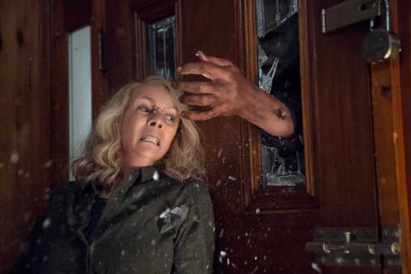 Jame Lee Curtis in una scene del film Halloween - Photo: courtesy of Universal Pictures