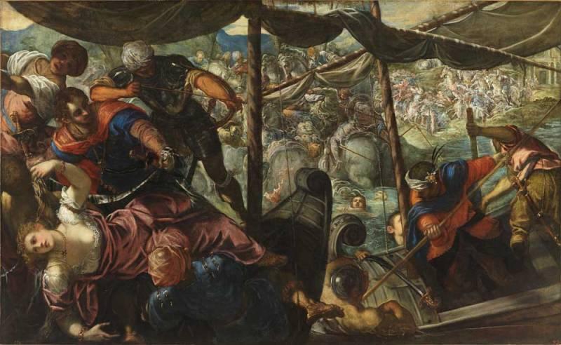 Tintoretto a Palazzo Ducale: Ratto di Elena, 1576 - 1577 ca, olio su tela, 186 x 307 cm Madrid, Museo Nacional del Prado