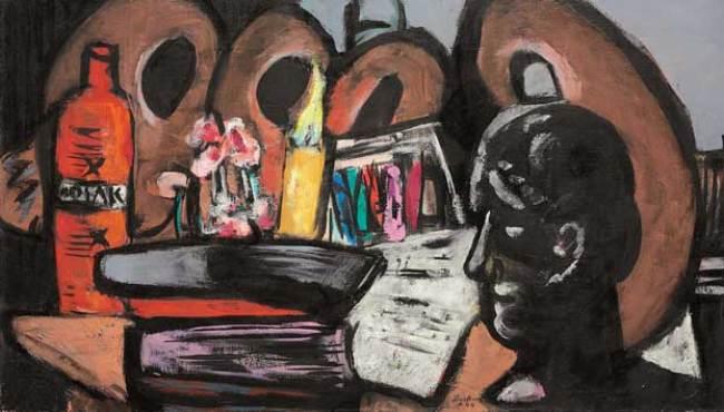 Max Beckmann, Natura morta con tavolozze
