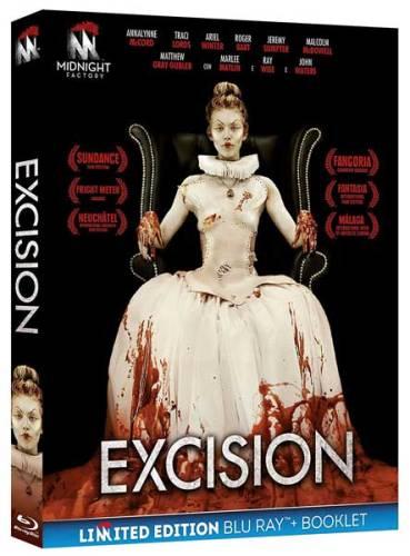 La cover del blu ray del film Excision
