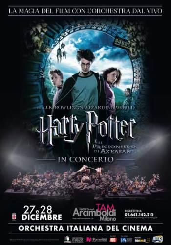 Harry Potter e il Prigioniero di Azkaban in concerto a Milano locandina