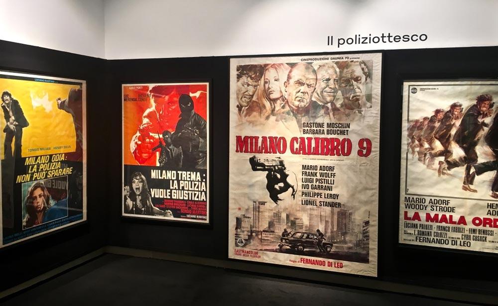 """L'allestimento della mostra Milano e il Cinema:la sala del """"poliziottesco"""" - Photo: MaSeDomani"""