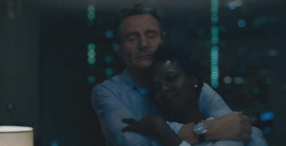 Liam Neeson e Viola Davis in una scena del film Widows - Photo: courtesy of 20th Century Fox